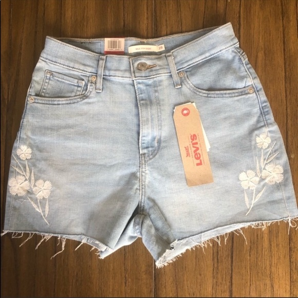 Levi's Pants - Levi's Mile High cutoff embroidered shorts